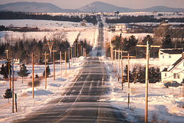 Aroostook Winter Roadscape